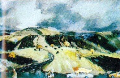 Fushë-Kosova, pikturë në vaj, 1981