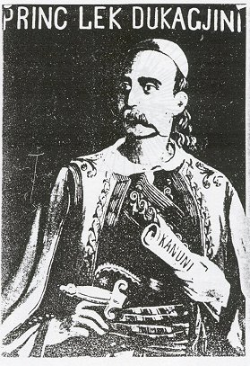 Princ Lekë Dukagjini - painting by Simon Rrota